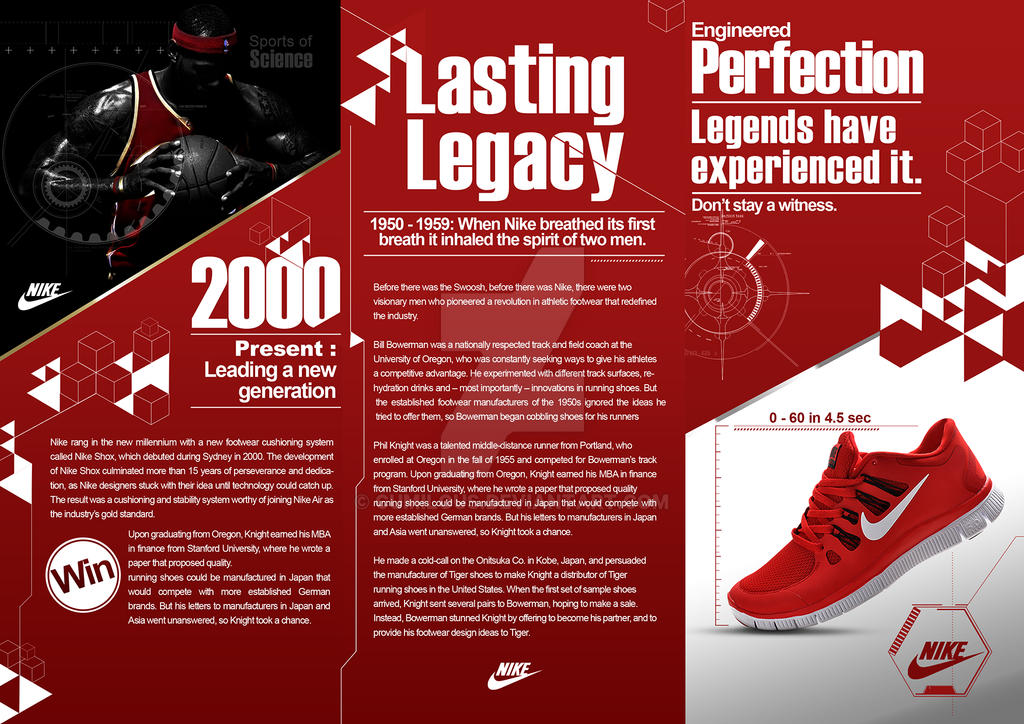 Nike editorial by cumilous on deviantart for Nike brochure design
