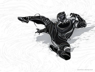 Black Panther Fanart by cumilous
