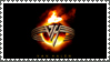 Flaming Van Halen Logo stamp by sandwedge