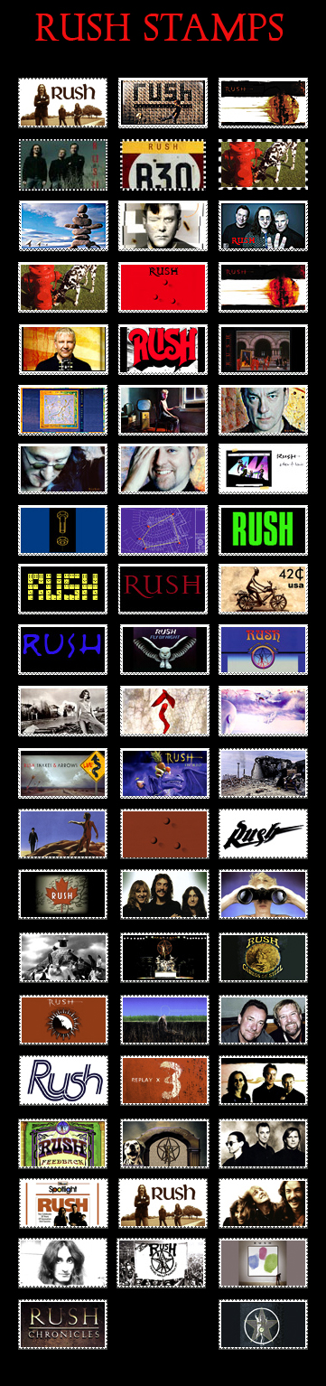 My RUSH stamps by sandwedge