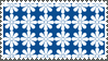 Blue Flower pattern stamp by sandwedge