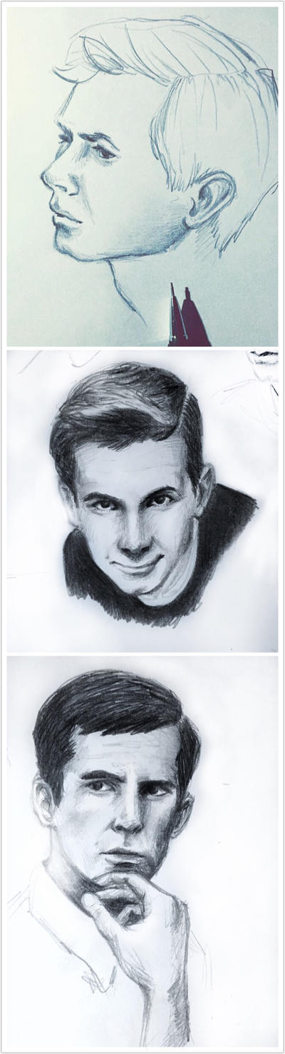 Anthony Perkins (three doodles) by Leinnon
