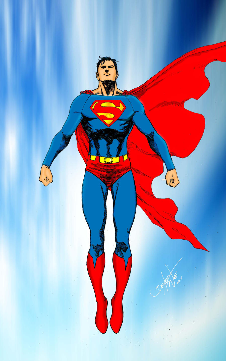 cute superman flying drawing - photo #24