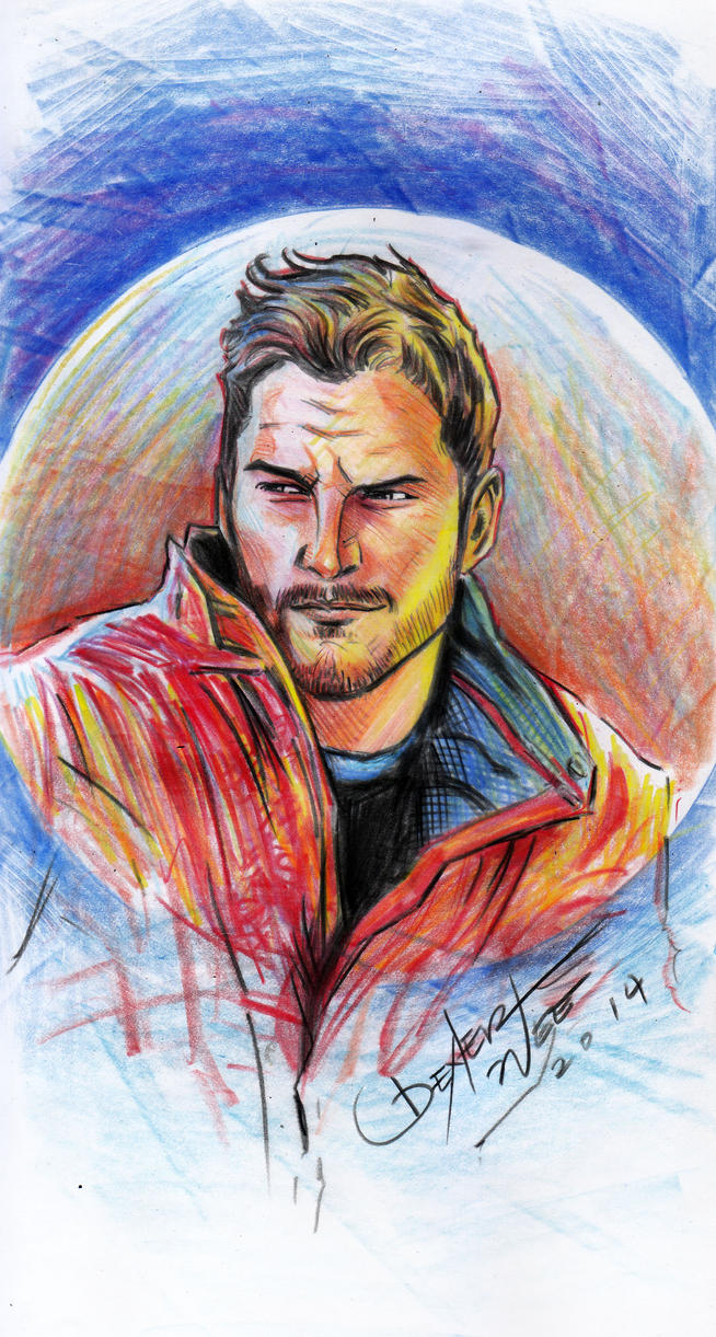 Guardians of the galaxy peter quill sketch by dexterwee on deviantart