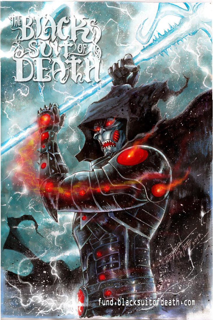 The Black Suit of Death #2 promo art by dexterwee