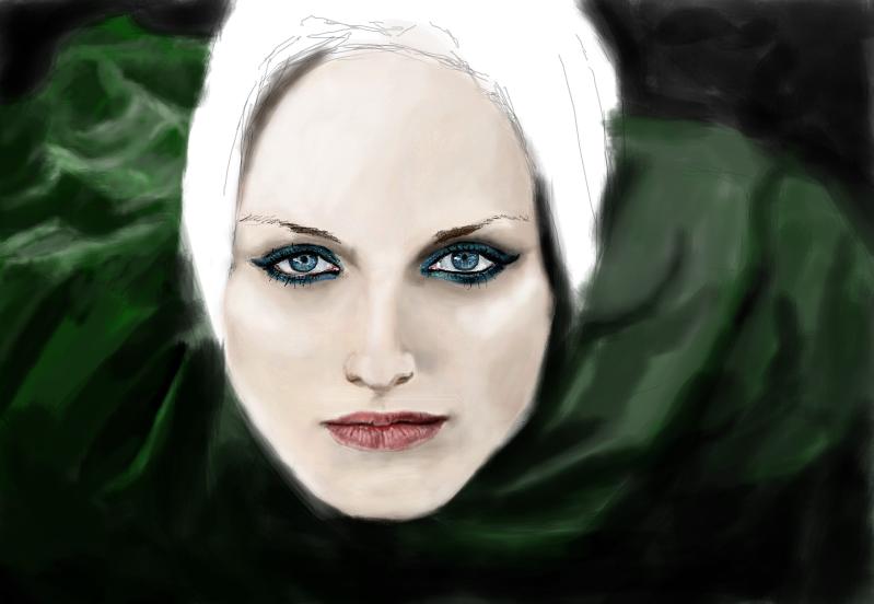Unfinished Girl in Veil by IsabelleWallgren