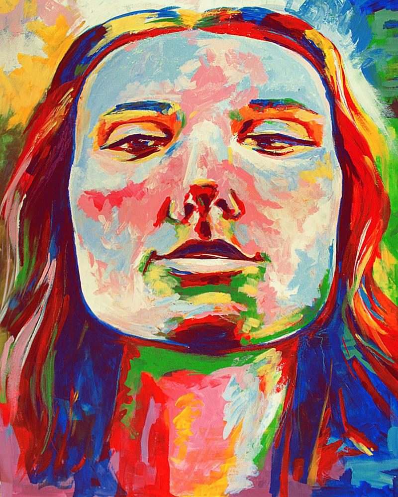 Colourful portrait by IsabelleWallgren