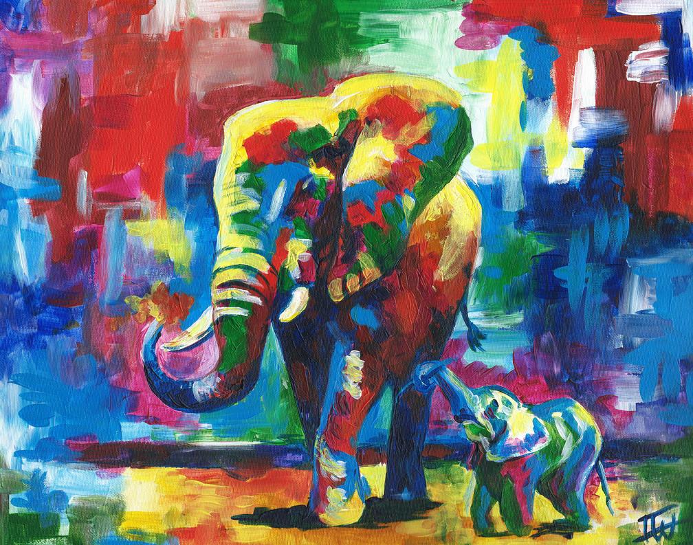 Elephant x2 by IsabelleWallgren