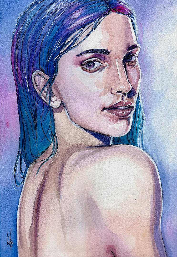 The girl with the blue hair by IsabelleWallgren
