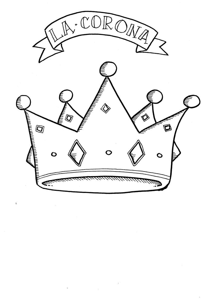 Corona para colorear - Dibujos para colorear - IMAGIXS