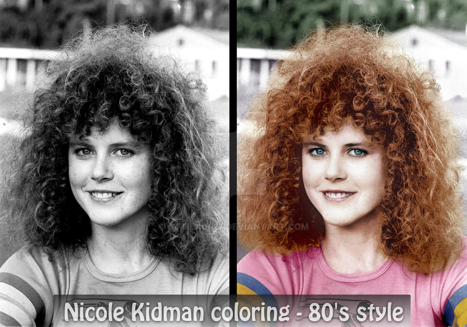 nicole kidman coloring 80s style by attila0427
