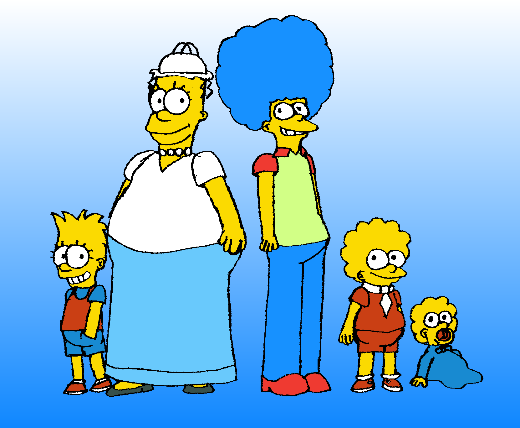 The Simpsons Gender Bender by MrPr1993