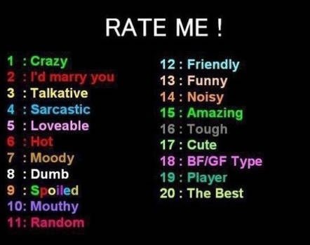 Rate Me!!!