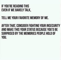 Your Favorite Memory Of Me