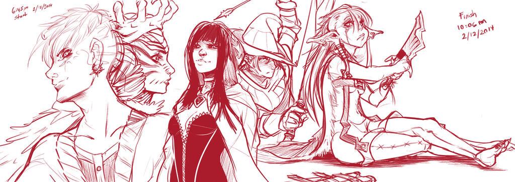Sketchbook stuff 01 by Yanomeko