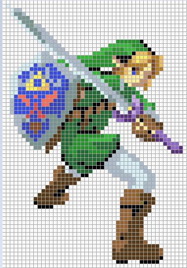 Link Cross Stitch Pattern *colored version* by Jormel