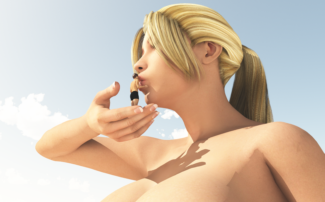 [Jeu] Association d'images - Page 18 Vue_giantess_59__a_big_kiss__by_nyom87-d5joev2