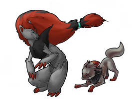 Zorua and Zoroark Collab - WIP