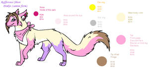 Pinkie dog fursona reff sheet