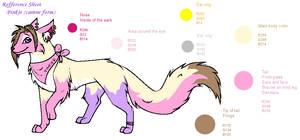 Pinkie dog fursona reff sheet by Pinkie-Pichu