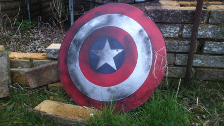 Captain America's Shield (Battle Damage) by UnknownEmerald