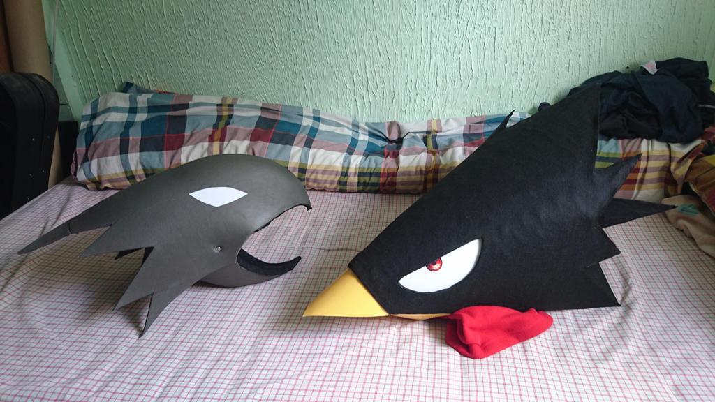 Tokoyami Fumikage Head + Dark Shadow by UnknownEmerald