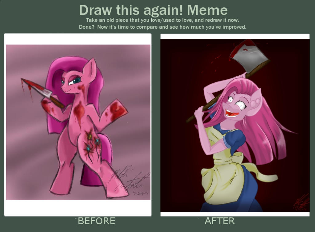 Draw this again! Meme by bookxworm89