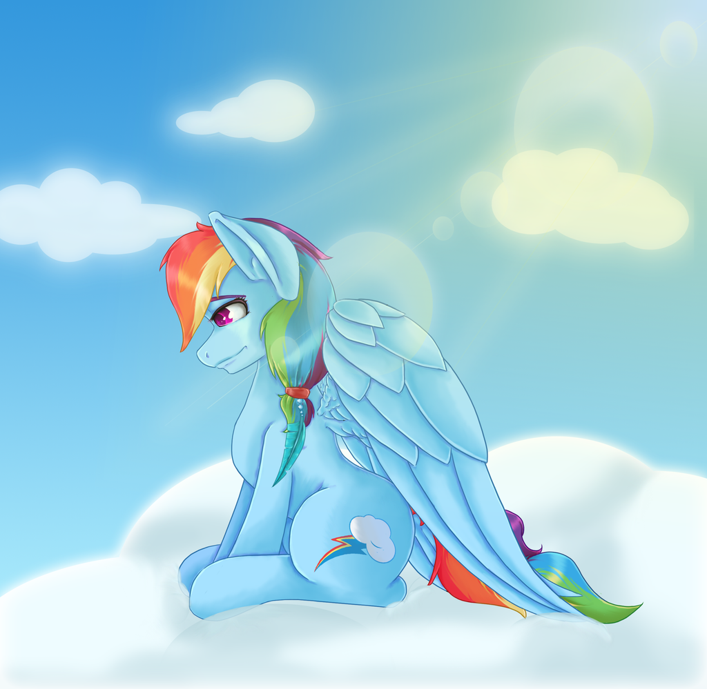 Rainbow Dash commission by bookxworm89