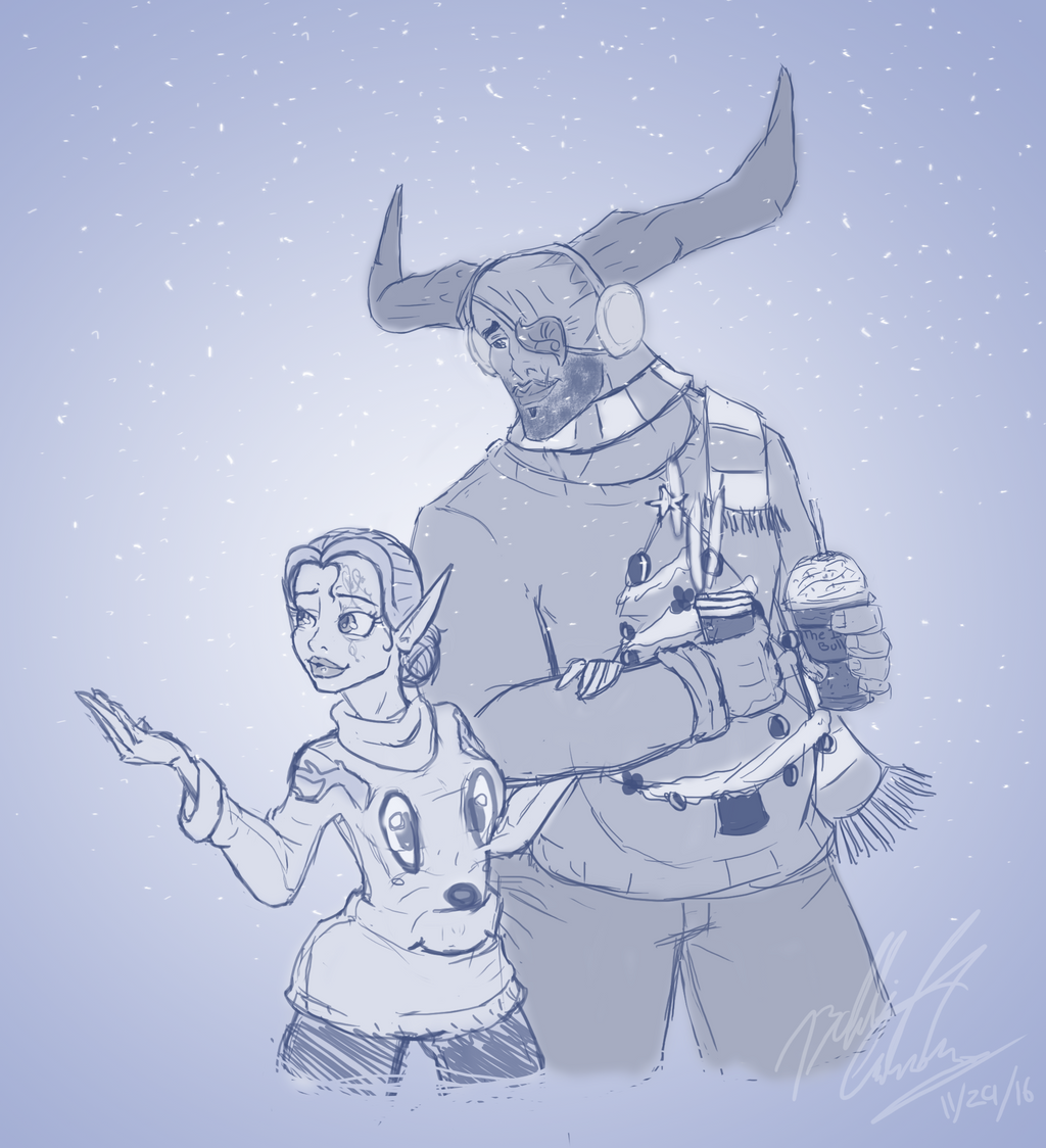 Dragon Age Christmas AU by bookxworm89