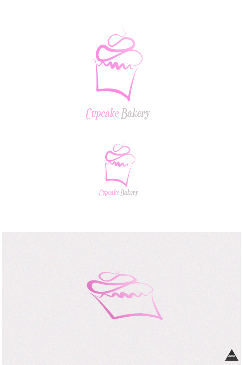 Cupcake Bakery logotype by elka