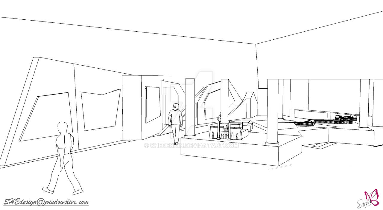 Exhibition Stand Sketch : Exhibition sketch by shedesign on deviantart