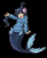 Commission - Fuuko Mermaid by BOAStudio