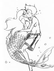 Sketchpalooza 300s - 06 Underwater kiss by BOAStudio