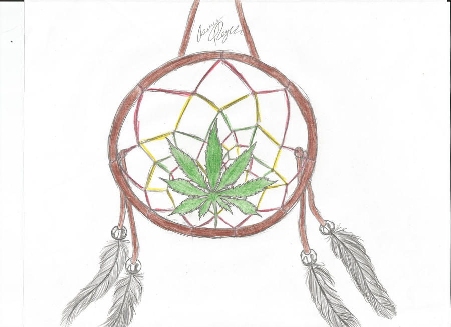 pot leaf dream catcher by ashketchum420