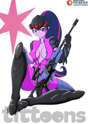 Twilight Sparkle MLP   Widowmaker Overwatch Fanart