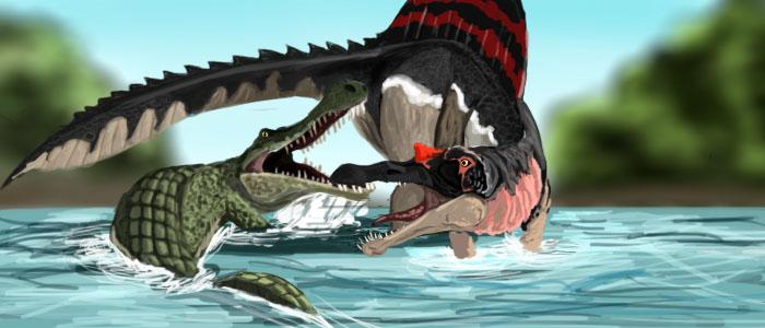 Image Gallery sarcosuchus vs