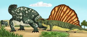 Dimetrodon vs Cotylorhynchus WIP