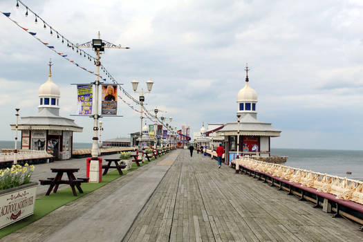 Blackpool, North pier deck and buildings