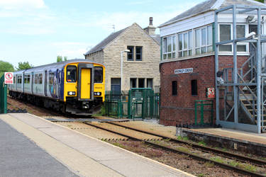 Train At Bromley Cross, Lancashire