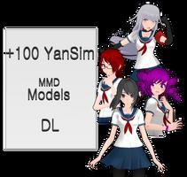 -/[+100 YanSim MMD Models]   [DL]\-