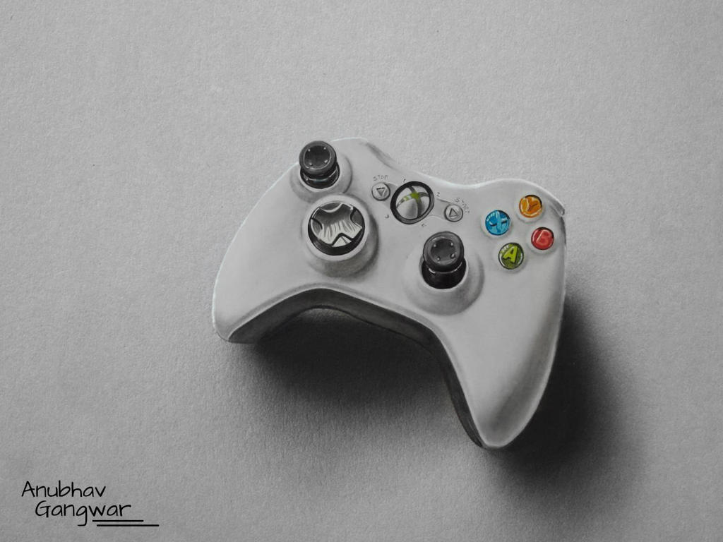 D Line Drawings Xbox : Xbox controller drawing by anubhavg on deviantart