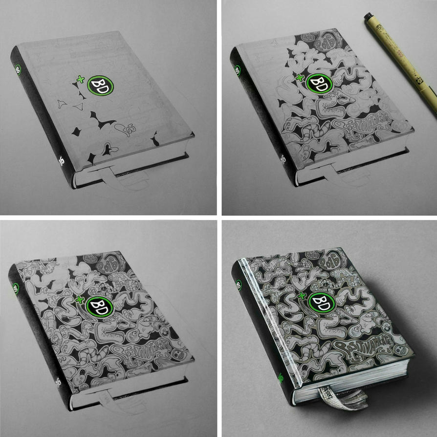 Bastardidentro Doodle Agenda Diary Drawing Phases by Anubhavg