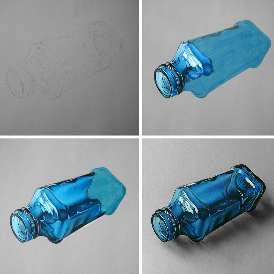 Blue bottle drawing phases by Anubhavg