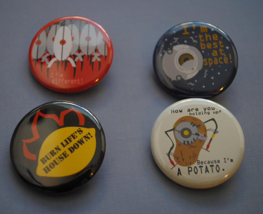 Portal 2 Buttons by radtastical