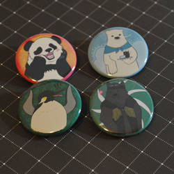 Shirokuma Cafe Button Set by radtastical