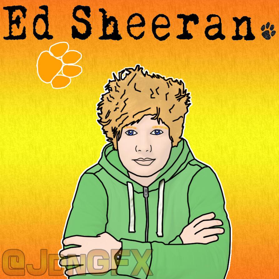 Ed Sheeran Fan Art - Cartoon by JdnGfx