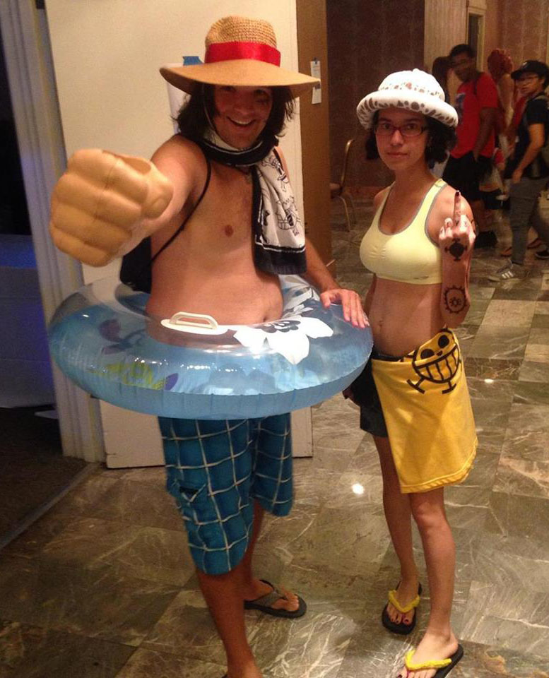 Luffy and Law Swim wear at Chibi-pa Sampler 2015 by BigJaa