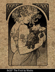 The Fruit by Mucha