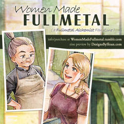 Women Made Fullmetal - zine preview by DesignsBySloan