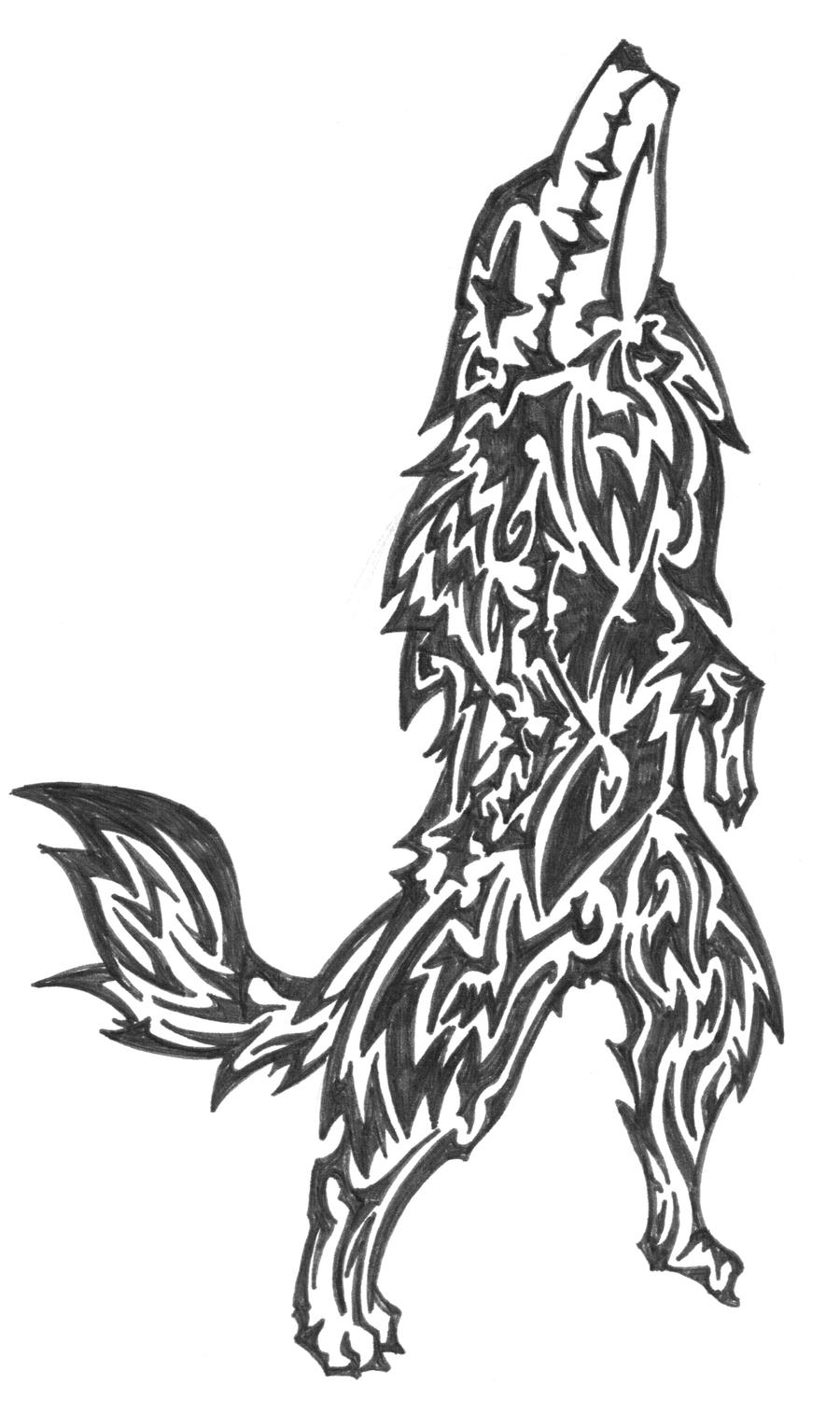 Wolf tattoo design 2 by